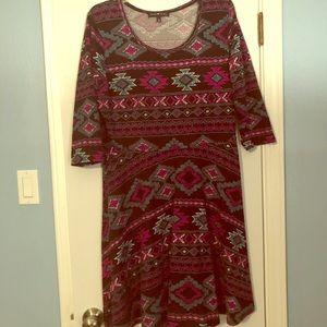 Dresses & Skirts - Aztec design Sweater dress